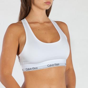 Calvin Klein Podprsenka Bralette Unlined Biela