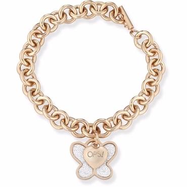 Ops! Objects Náramok Glitter Kolekcia Gold Butterfly