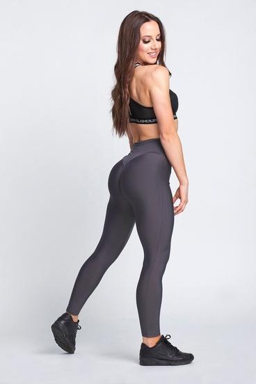 Gym Glamour Legíny High Waist Dark Grey