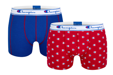 Champion Boxerky 2Pack Red/Blue