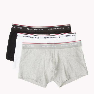 Tommy Hilfiger 3 Pack Boxerky Black, Grey&White LR