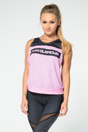 Gym Glamour Top Ružový