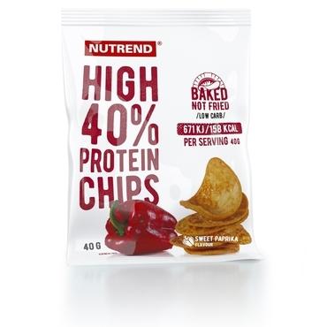 Nutrend Proteínové Chipsy Paprikové