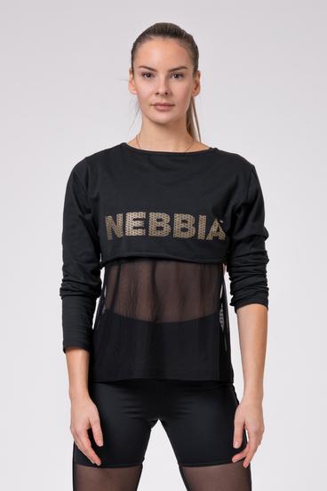 Nebbia Tričko 805 Intense Mesh Black