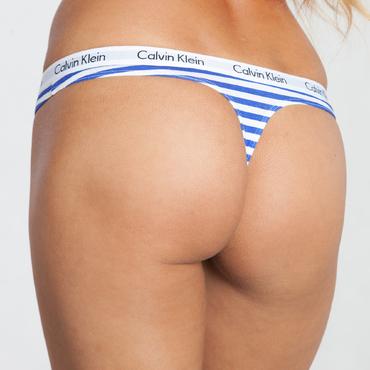 Calvin Klein Tangá Modro-Biele