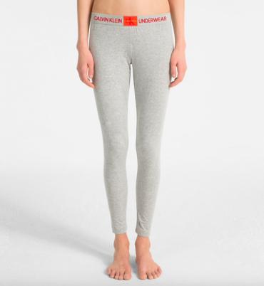 Calvin Klein Legíny Monogram Sivé