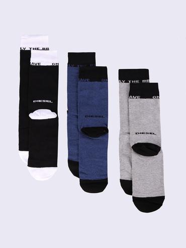Diesel 3Pack Ponožky Čierne, Modré A Šedé