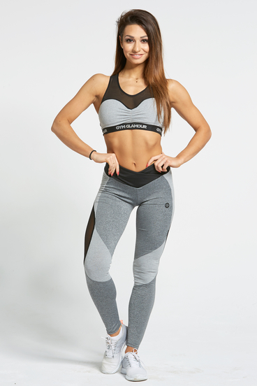 Legíny Gym Glamour Sexy Mixed Grey
