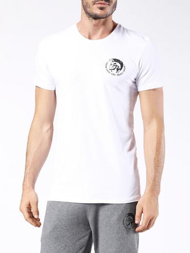 Diesel Tričko Pánske Biele S Logom