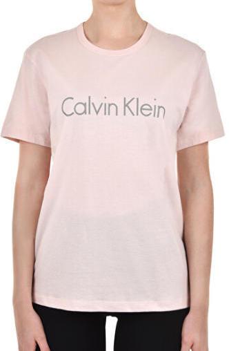Calvin Klein Dámské Tričko Logo Svetlo Růžové