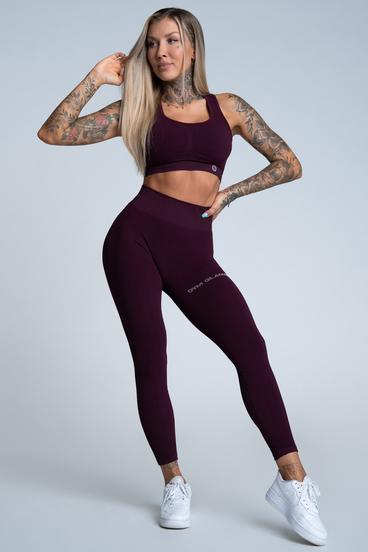 Gym Glamour Legíny Push Up Grape