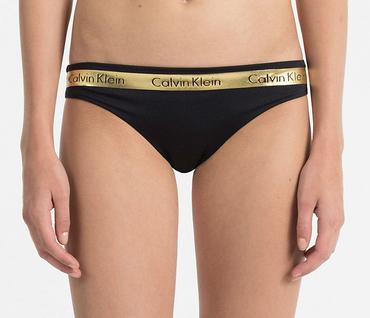 Calvin Klein Plavky Brazilian Beach Active Black&Gold Spodní Diel