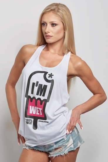 "Gym Glamour Top ""I´m Wet"""