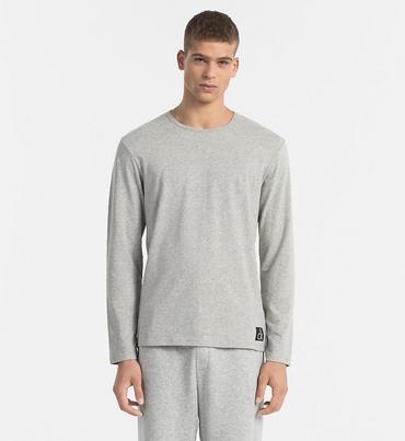Calvin Klein Tričko S Dlhými Rukávmi Šedé