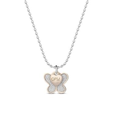 Ops! Objects Glitter Náhrdelník Gold Butterfly
