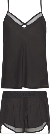 Calvin Klein Dámské Pyžamo Set Čierné