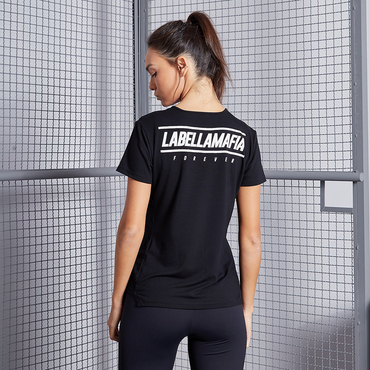 Labella Tričko Black Fitness