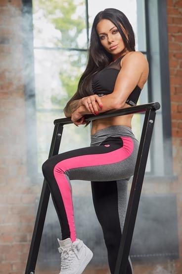 Gym Glamour Legíny S Pink Fluo Pruhem