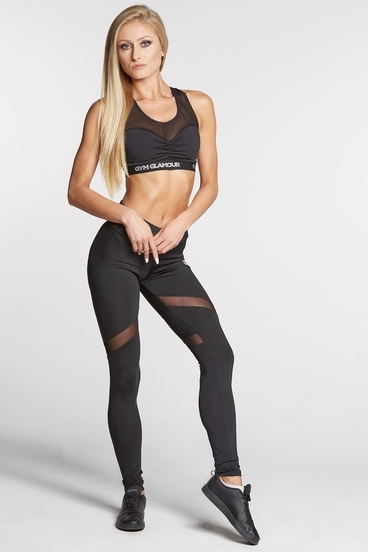 Legíny Gym Glamour Full Black Heart