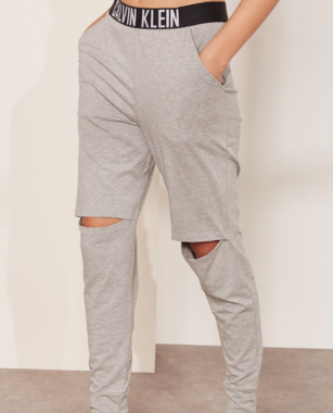 Calvin Klein Tepláky Knee Cut Sivé
