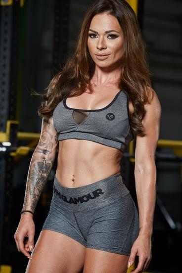 Podprsenka Gym Glamour Grey Melange