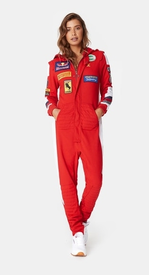 OnePiece Overal Formula Red