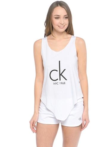 Calvin Klein Tielko Knotted Biele