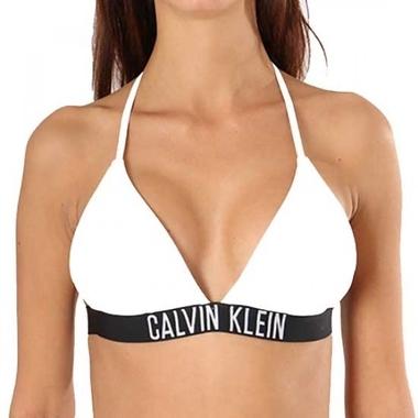 Calvin Klein Plavky Fixed Triangle Biele Vrchní Diel