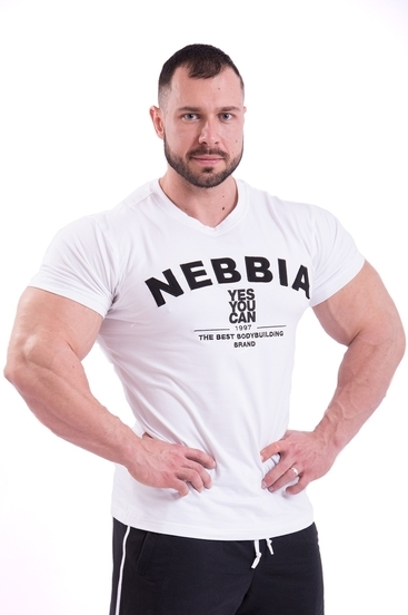 Nebbia Tričko 396 Pánske Hardcore Biele