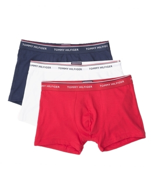 Tommy Hilfiger 3Pack Boxerky Red, White&Peacoat