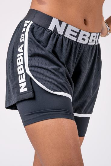 Nebbia Šortky 527 Fast&Furious Double Layer - Čierné