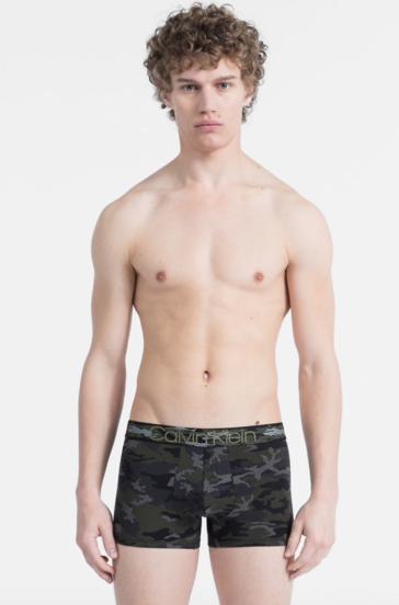 Calvin Klein Boxerky Camo Print Black