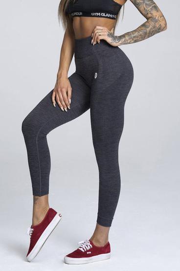 Gym Glamour Legíny Bezšvíkové Grey Melange
