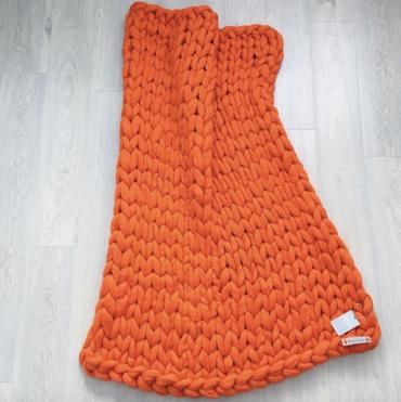 Merino Vlnená Deka Orange 80x100cm