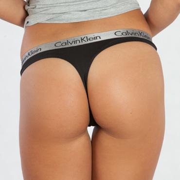 Calvin Klein Tangá Radiant Čierne