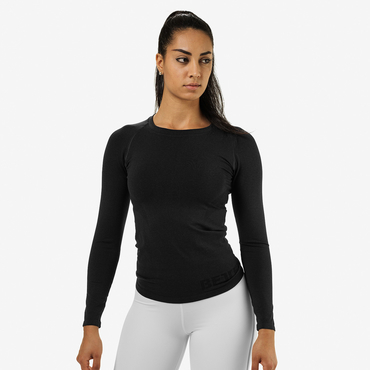Better Bodies Tričko Nolita Seamless Long Sleeve Black Melange