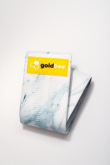GoldBee Textilná Odporová Guma - Svetlo Modra Mramorova