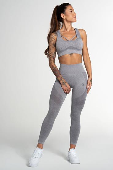 Gym Glamour Legíny Bezšvíkové Fusion Light Grey