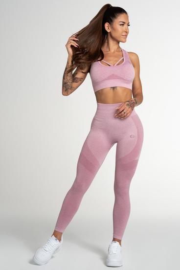 Gym Glamour Legíny Bezšvíkové Pink Fusion