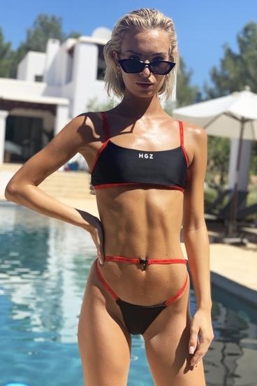 Hugz Plavky Ibiza Sport Bikini Čierné