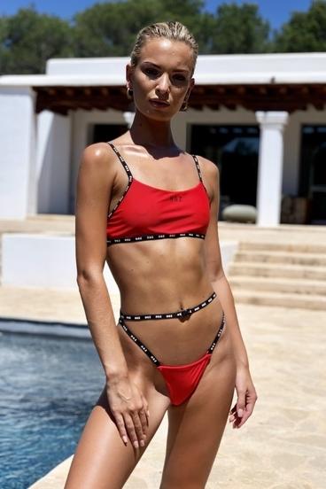 Hugz Plavky Ibiza Sport Bikini Červené