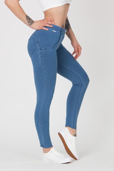 Boost Jeans Stretch Mid Waist Light Blue
