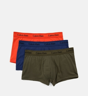 Calvin Klein 3Pack Boxerky Orange, Blue, Khaki LR