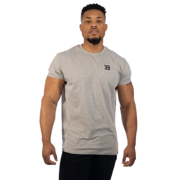 Better Bodies Tričko Essential Tee Grey Melange