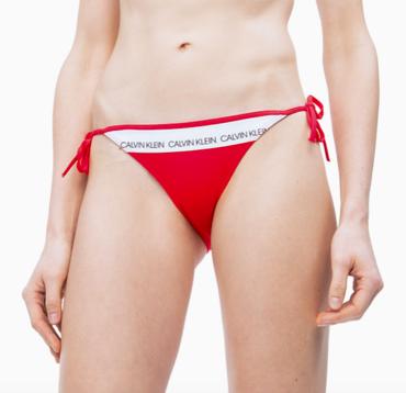Calvin Klein Plavky CK Logo Red Spodný Diel