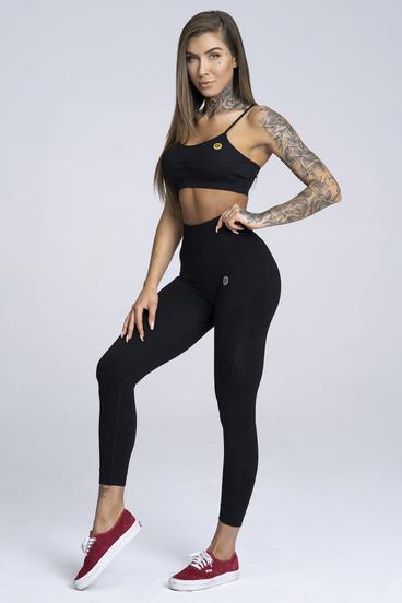 Legíny Gym Glamour Bezšvíkové Black