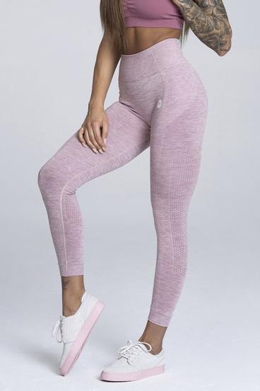 Gym Glamour Legíny Bezšvíkové Pink Melange