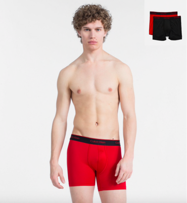 Calvin Klein 2Pack Boxerky Pro Air Red&Black