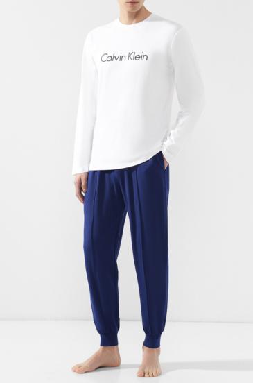 Calvin Klein Pánské Tepláky Modré Se Švy