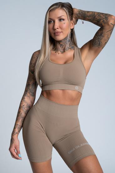Gym Glamour Podprsenka Push Up Nude